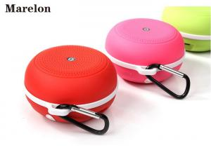 China Round Sports Music Bluetooth Speaker Line In Audio Input With Carabiner on sale