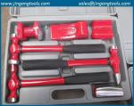 fiber glass handle auto body and fender repair hammers with case