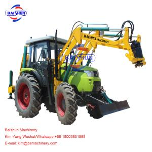 China Wire Rod Tractor Mounted Post Hole Digger / Large Pole Drilling Equipment on sale