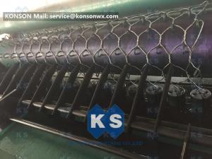 China Custom OEM Gabion Box Machine / Galvanized Iron Hexagonal Wire Mesh Machine on sale