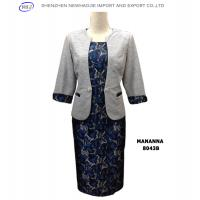 MANANNA collarless mid-sleeves woman fashion dress suit