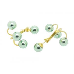 Classic Flower Stainless Steel Stud Earrings With Lake - Blue Plated Pearls
