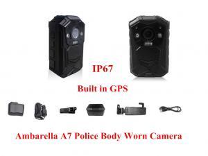 China 140 Degree Wide Angle IR Night Vision Body Camera GPS IP67 1080P Police Body Camera on sale