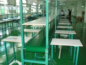 China Conveyor Belt Electronics Assembly Line Aluminum Frame High Efficiency on sale