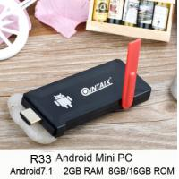 QINTAIX R33 Android tv dongle rk3328 quad core 2gb ram 8gb/16gb rom android7.1 mini pc