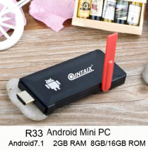 China QINTAIX R33 Android tv dongle rk3328 quad core 2gb ram 8gb/16gb rom android7.1 mini pc on sale