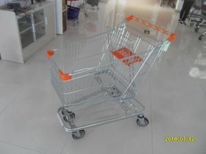 China 125L Supermarket Shopping Trolley With 4 Swivel Flat Casters  941 X 562 X 1001mm on sale