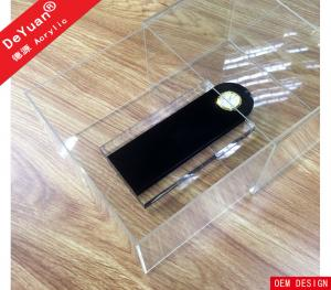 China Showcase Clear Perspex Shoe Box Drawers Custom Logo Printing on sale