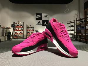 China Nike AirMax 90 Knitting Women Trainer Max90 Girls Sports Shoes Outlet Black Pink Red Color on sale