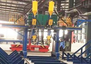 China T Type Submerged Arc Welding Machine , 2000mm Web Height H Beam Assembly Machine on sale