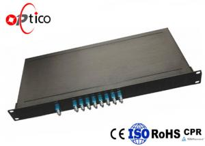 China Low Crosstalk CWDM Module Mux Demux Rack Mount Wide Wavelength Range 8CH on sale