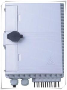 China FTTH 16 Port Lower layer Fiber Optic Termination Box / 1x12 PLC Splitter Distribution Box on sale