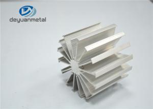 China 2 Meter Heat Sink Silver Anodized Aluminium Profile Construction Aluminum Profiles on sale
