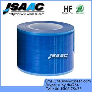 China Non-adhesive edges blue barrier film on sale