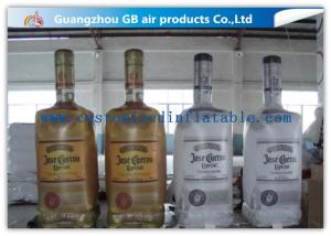 China Big Liquor Bottle Shape Inflatable Advertising Signs OEM With Custom Printing on sale