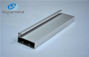 China 6063-T5 Silver Anodized Aluminum Profiles For Windows And Doors With Cutting on sale