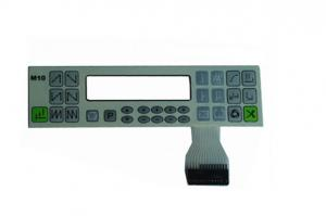 China Round / Pillow Embossed Keypad Waterproof Membrane Switch With LED Window on sale