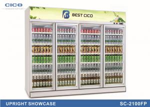 China Four Door Upright Display Refrigerator , Upright Refrigerated Display Case on sale
