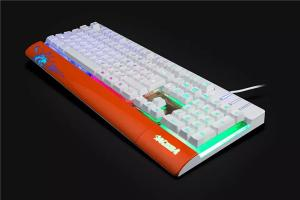 China LED light wired gaming Mechanical Keyboard Aluminum mechanical keyboard on sale