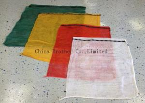 China PP Woven Industrial Mesh Bags Recyclable Red / Orange Color 30kg 40kg on sale