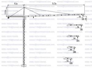 China QTZ7525 Hammerhead Tower Crane 16t Load 75mts Work Boom 2.5t Tip Load on sale