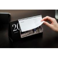 Printed cardboard base promotional table calendar_China Printing Factory