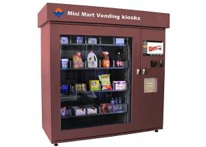 China Touch Screen Mini Mart Vending Machine Automated Retail Coin Bill Card Operated on sale