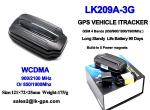 3g wcdma gps tracker with Battery Standby 90Days ----Black LK209A-3G