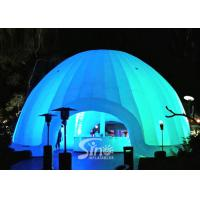8m dia. trade show led light inflatable dome tent made of best pvc coated nylon