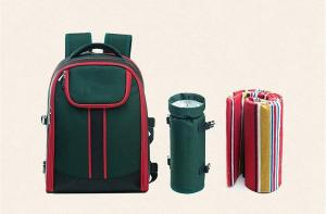 China Picnic Table ware Backpack Storage Outdoor Hiking camping bag Travel Plates Cutlery Set on sale