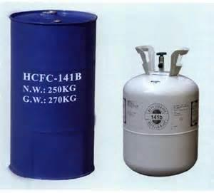 China Refrigerant gas r141b in 250kg steel drum, cleaning agent R141b. foaming agent R141b on sale