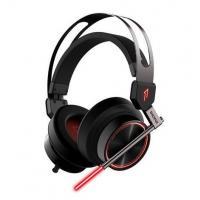 China USB 7.1 Surround Sound Virtual Reality Headset , LED Light Around Ear Headphones For PC on sale