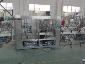 China 3 em 1 máquina de enchimento giratória de enchimento da cerveja das cabeças do equipamento 12 do líquido da CDD on sale
