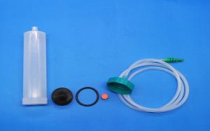China Glue 200cc Syringe Barrel Adapter / Dispensing Adhesive Syringe With Needle on sale