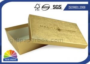 China Gold Texture Paper Two Pieces Rigid Set Up Box For Gift Set Promotion on sale
