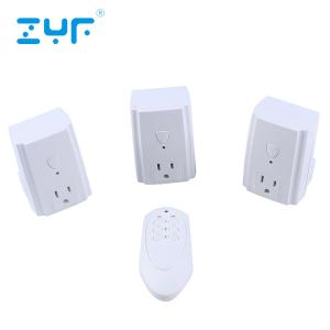 China 80 Feet Range Wireless Electrical Outlet Switch 5A Rated Current For Lamps / Power Strips on sale