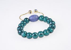 China Antique Style & Fashion Chain Green Shamballa Crystal Beaded Bracelets with Factory Price on sale