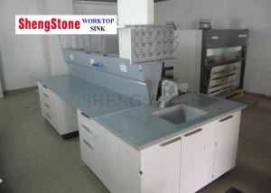 China Physics Lab Epoxy Resin Worktop Matt Surface With 19mm Thickness supplier
