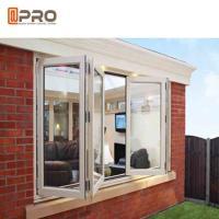 China Double Glazing Vertical Bifold Window , Anodized Aluminium Windows on sale
