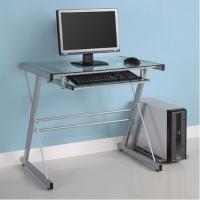 Transparent Modern Tempered Glass Computer Desks Square 70W * 50D * 75H DX-MH5