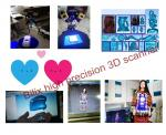 plastic parts high precision 3D scanner, shoes 3D scanner with 200*150mm