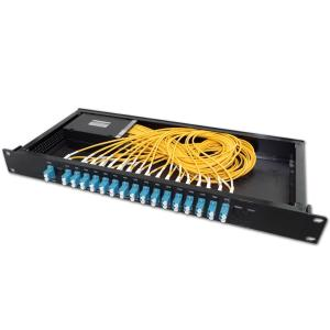 China FMU 1U Rack Mount CWDM MUX DEMUX 16 Channels With 1310-1610nm Wavelength on sale