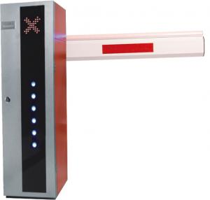China Outdoor Folding Arm Traffic Barrier Gates Integrative Motor with Traffic Light on sale