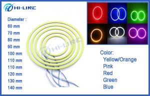 China Red COB LED Car Lights LED Angel Eye Halo Ring Light 60mm - 100mm for Universal Cars on sale