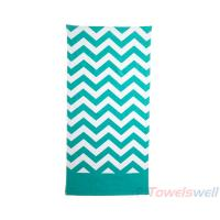 Chevron Beach Towels Lint Free, Ultra Soft, Durable, Scratch-Free, Machine Washable.