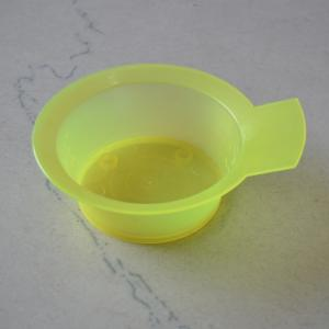 China Customized 200ML Hair Coloring Tools Yellow Plastic Hair Dye Bowl on sale