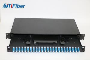 China Loaded LC48 Port Fiber Optic Terminal Box With Fiber Optic Patch Panel on sale