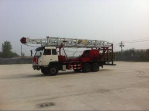 China ZJ10 Petroleum Trailer Mounted Drilling Rigs Hydraulic + Mechanical Drilling Rig on sale