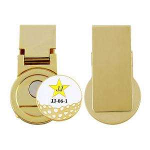 China Tailored Brass Photo Custom Money Clips With Golf Ball Mark Any Size Avaiable on sale