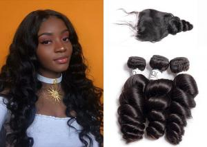 China 3 Bundles Brazilian Natural Loose Wave / Unprocessed Loose Wave Remy Hair Weave on sale